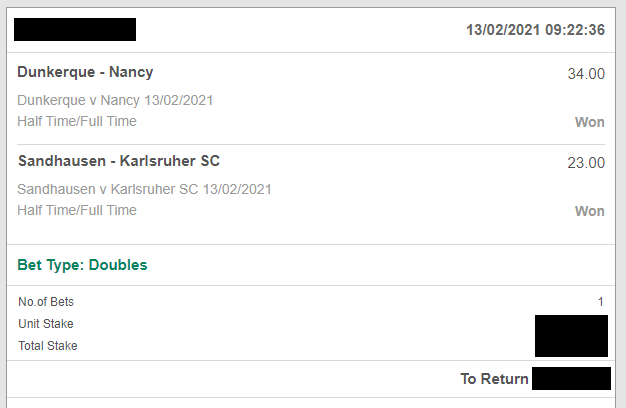 Double Fixed Matches from bet 365